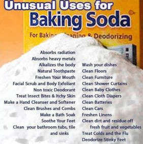 unusual baking soda uses