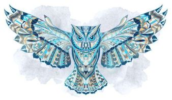 owl abstract illustration